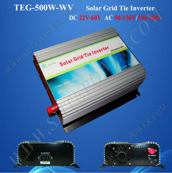 Adjustable AC output Voltage 90-130V 500W Solar Power Inverter Grid Tie(China (Mainland))