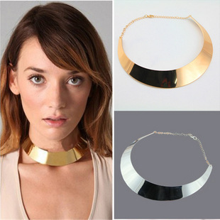 2014 New Fashion Trendy Punk Necklace 8k Gold Plated Metal Choker Necklaces Women Ladies Gifts - Bellast Jewelry Shop store