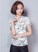 New style nice quality blusa feminino print chemiser femme short sleeve summer tops M/L/XL/2XL