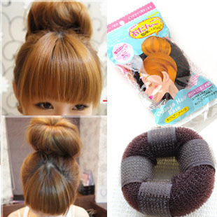 <Min.order $15,can mix models> 6163 donuts band hair maker meatball head stubbiness hairdressing tool headband