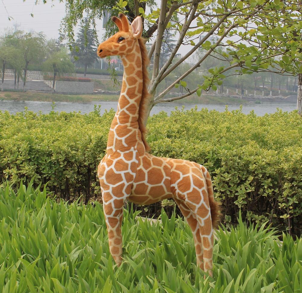 simulation plush giraffe toy lovely standing giraffe doll new creative giraffe doll gift about 95m<br><br>Aliexpress