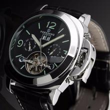 Forsining 2016 Automatic Watch Men Relogio Masculino Leather Strap Erkek Kol Saati Watches Top Brand Luxury Montre Homme Relojes