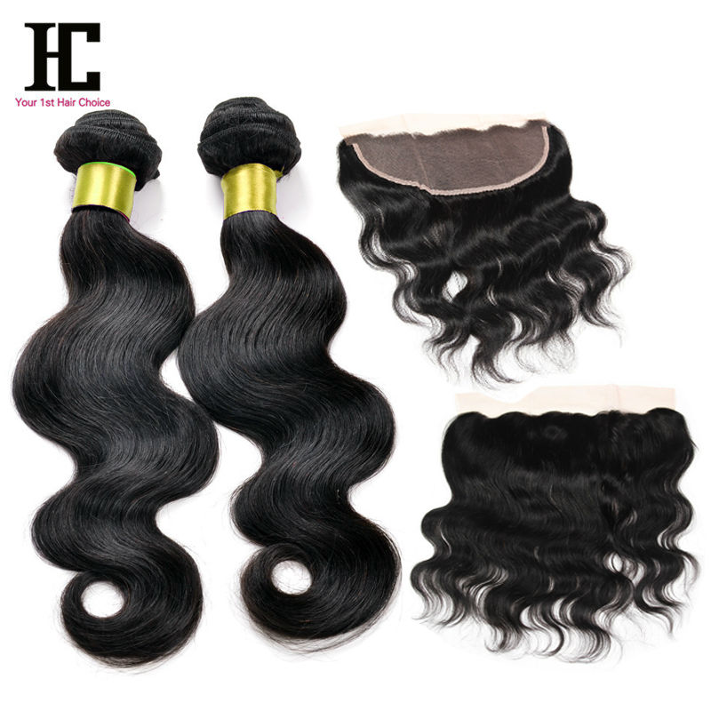 2pcs/lot 13x4 Lace Frontal With Bundles 7a Unprocessed Virgin Hair TOP Soft Peruvian Lace Frontal Closure With Bundles Body HC <br><br>Aliexpress