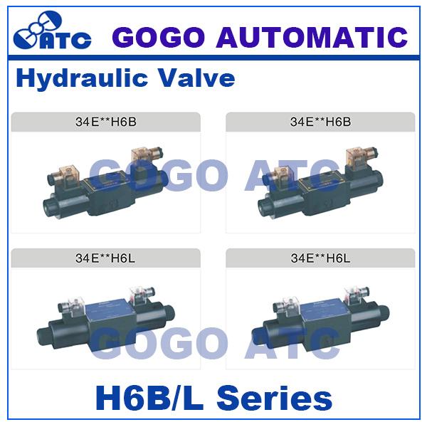 High quality H6B/L series United design oil directional valve 24v 12v dc 110v 220v ac flow control valve hydraulic(China (Mainland))