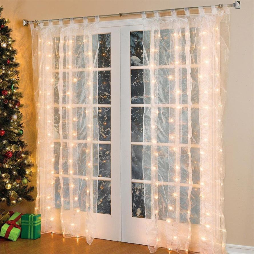 May 4 Mosunx Business 3*3M 300 LEDs String Window Curtain Icicle Lights Holiday Xmas Wedding Garden Decor(China (Mainland))