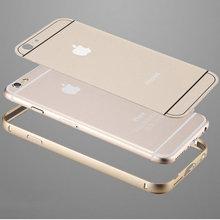 Cassa di alluminio del metallo per il iphone 6 6 plus fundas coque doppio ibrido per il iphone 6 6 plus metallo telaio in alluminio con pc caso della copertura posteriore(China (Mainland))