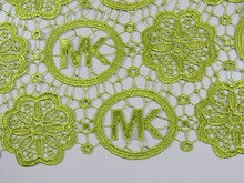 CE6-8!Most popular lemon green lace cheap price, african cotton water soluble, wedding lace, women lace free shipping!