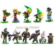 11pcs The Legend Of Zelda Spirit Tracks Mini Figures Capsule Toys 5cm PVC Gift