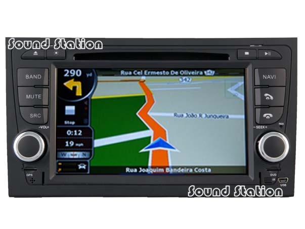 For Audi A4 S4 RS4 Automotivo DVD Radio Stereo Automotive GPS Navigation Automobiles Media Auto Multimedia Audio Video Player(China (Mainland))
