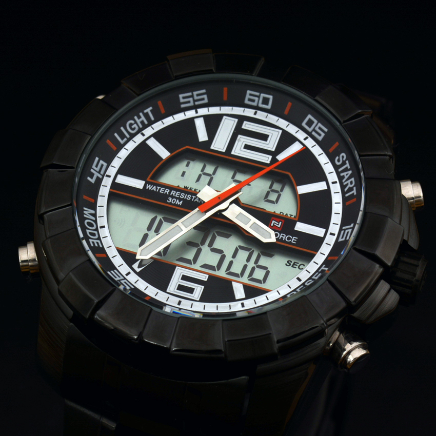 Top Brand Luxury NAVIFORCE Men Watches Full Steel Men Business Sport Watches Analog Digital LED Military Watch relogio masculino<br><br>Aliexpress