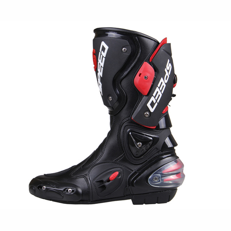 Hot Sell PRO-BIKER Moto Racing Motocross Motorbike Shoes SPEED BIKERS Motorcycle Boots Black/White/Red Size 40-45(China (Mainland))