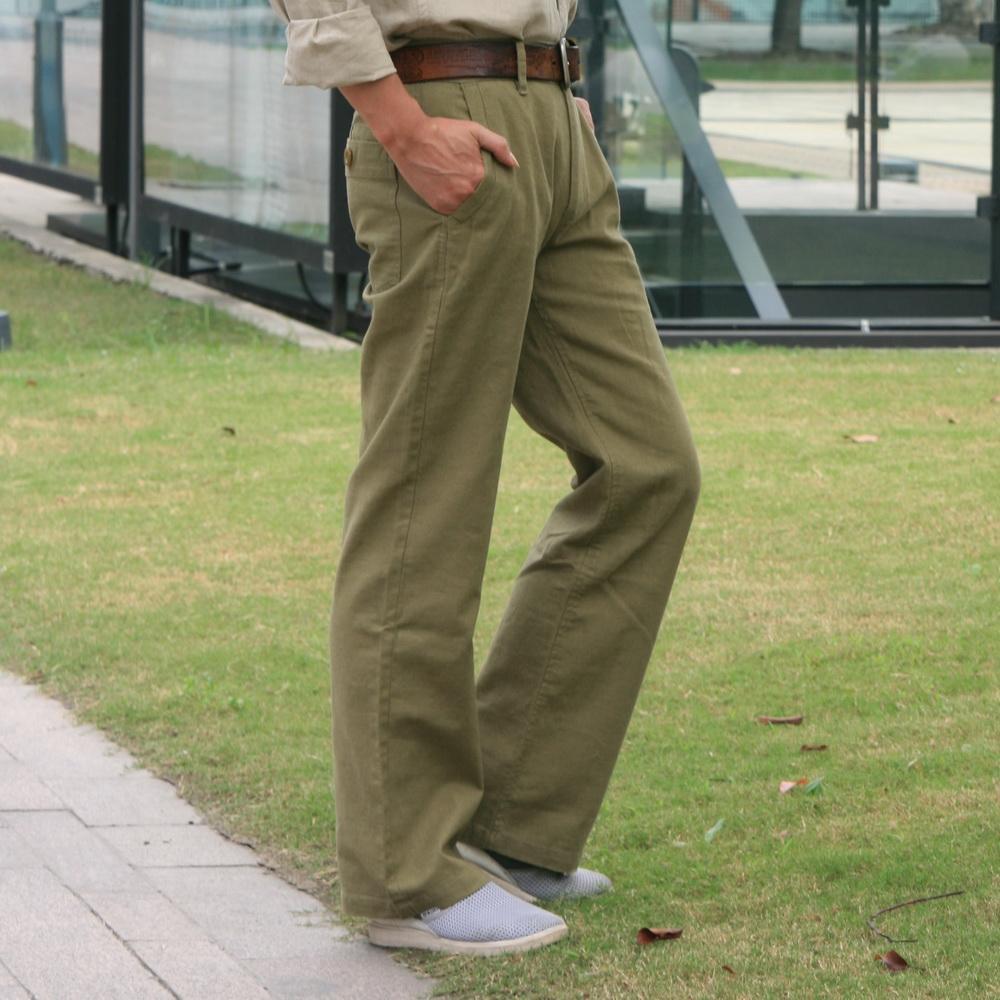 Linen pants male casual loose cotton linen pants linen pants plus size long trousers big straight water wash linen pants(China (Mainland))