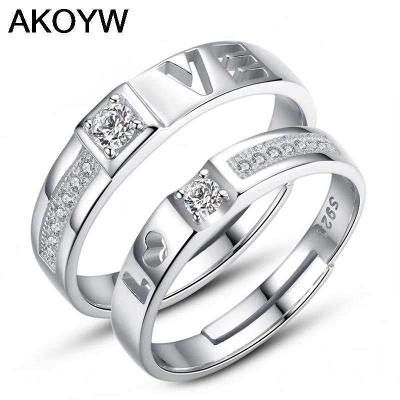 Silver plated couple to tie the knot on the ring opening wild I love you jewelry lady lovely high quality men's fashion jewelry(China (Mainland))