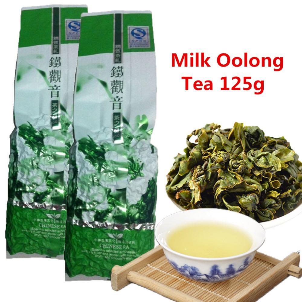 Wholesale jin xuan Milk Oolong Tea 125g High Quality Tiguanyin Green Tea Milk Oolong Health Care Milk Tea+Secret Gift(China (Mainland))