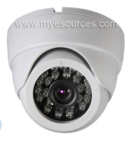 Free shipping SONY 633 CCD IR Color 420TVL 24LED cctv dome Camera 3.6mm&6mm lens night vision IR distance CCTV camera IR dome(China (Mainland))