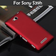Телефон чехол S39H пластик, чехол для SONY XPERIA C C2305 приталенный заморожено матирование телефон задняя часть чехол капот гибридный жёсткая сотовый XJQ