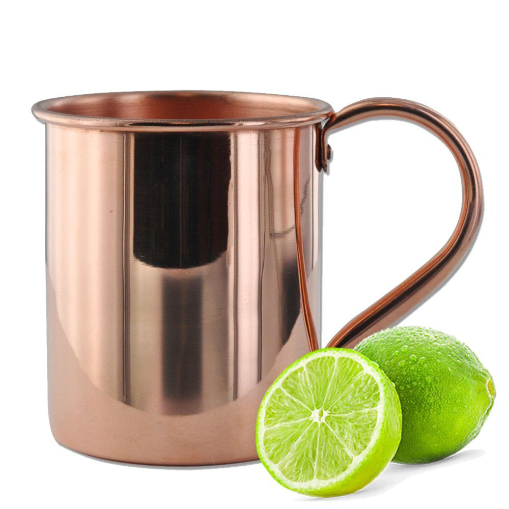420ml Beer Cup Hammered Copper Mug Moscow Mule Mugs Pure Copper Cup Milk Coffee Mug Solid Handle Drinkware(China (Mainland))