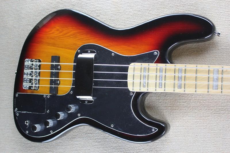 2015 Chinese Musical Instruments Factory Custom 100% New Top Quality Natural Wood sunburst jazz 4 String bass Guitar 930(China (Mainland))