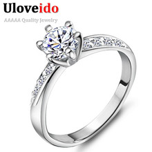 40% off Wedding Crown Crystal Ring for Unique Exclusive Women Cool CZ Diamond Zirkon Jewelry Engagement Ring Joyas Vintage J048(China (Mainland))