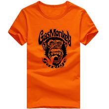 Printed Gas Monkey t shirts Monkey Sticker Gas Monkey t shirts Brand Fashion Casual Tshirt Clothing