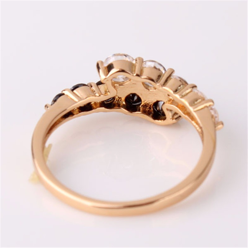 mother day gift jewelry 18k gold filled rings white