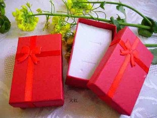 Free shipping 5x8x2.5cm Jewelry Packaging Ring & Earring Gift Box 84pcs/lot cheap price wholesale(China (Mainland))