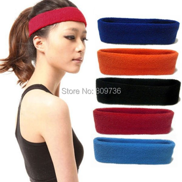 Free shipping 1PC Women's Accessories headband candy color sports yoga Hair band ring bandanas hair bands(China (Mainland))