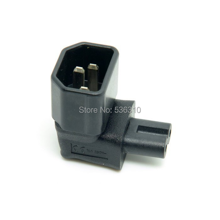 90 Degree Right Angled IEC 320 C14 Socket to IEC C7 Plug AC Power Adapter Set UL Approved(China (Mainland))