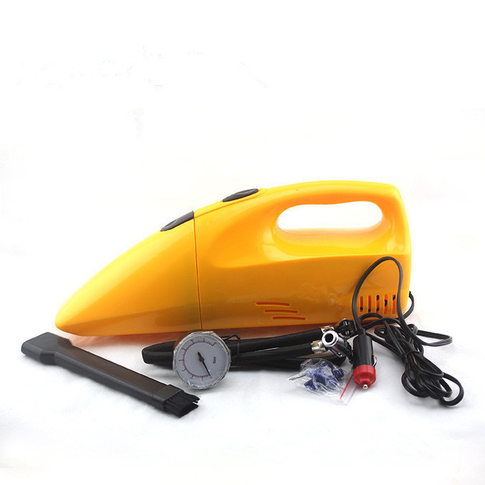 Car vacuum Cleaner Strengthen High Quality 2 in 1 Auto Car DC 12V 250 PSI Air Comperssor With Vacuum Cleaner Free shipping(China (Mainland))