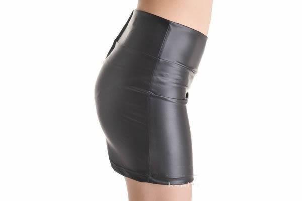 2015 harajuku slim sexy women Leather dress black fashion comfortable short summer women party night club high collar dress17-22(China (Mainland))