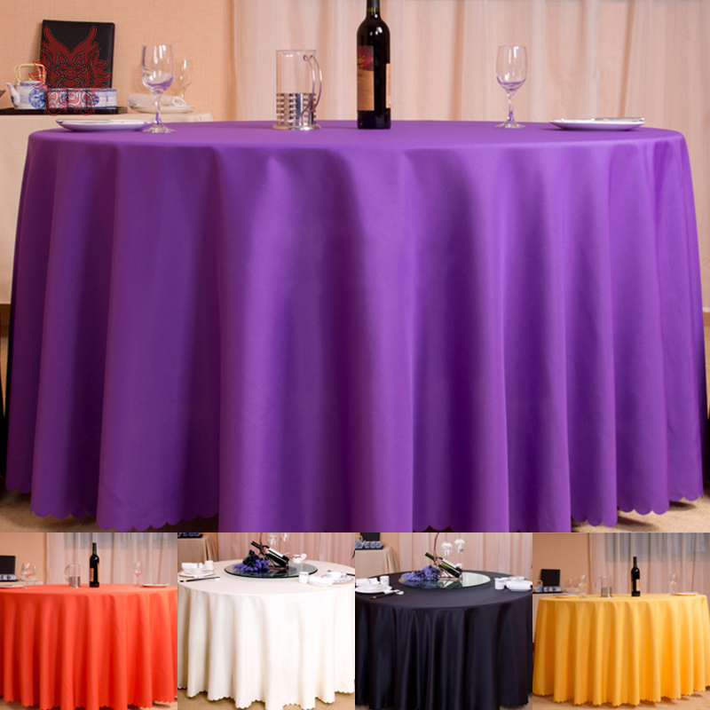 Hot sale Modern style multi-color solid Table Cloth polyester thick table cover for hotel round/rectangle Home Textile SP1349(China (Mainland))