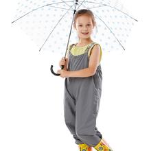 Unisex kids rain pants outdoor split raincoats boys girls polyesterwaterproof jumpsuit romper free shipping