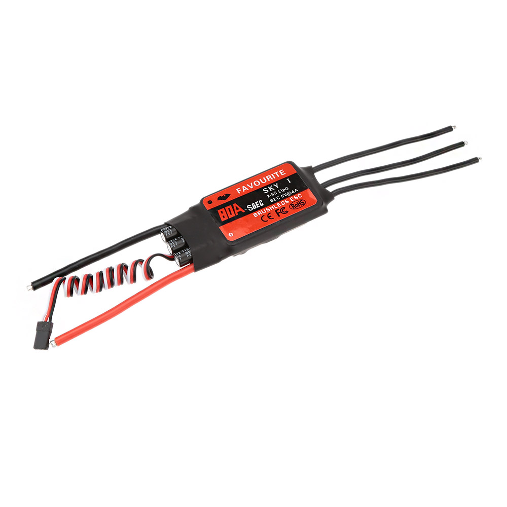 Favourite SKYI series 80A 2~6S LiPo Battery Brushless Motor ESC with 5V/4A Switch Mode SBEC for RC Fixed Wing Airplane(China (Mainland))