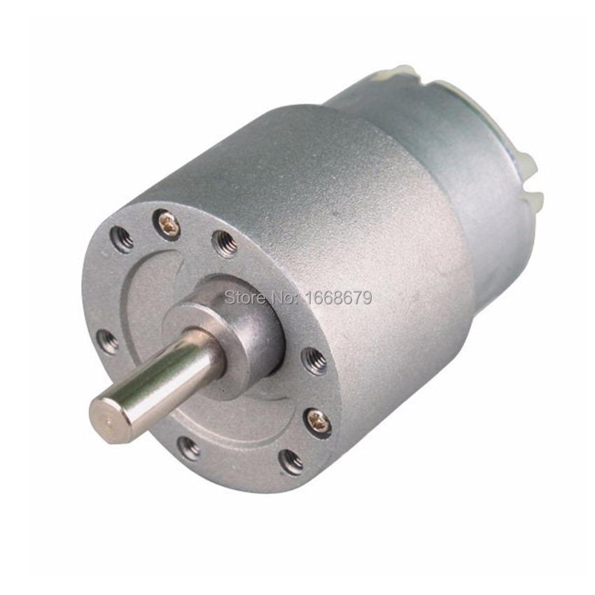 Mini Electric Metal 12v Dc Gear Motor 37mm 10rpm Powerful