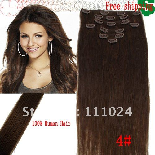 retail 20 inch human hair extensions 90g/SET clip great volume length - HairsBay store