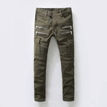 2015 new balmai jeans men crystal straight balmans hot mens designer jeans famous brand,Multi zipper 933,925,free shipping(China (Mainland))
