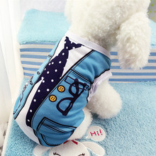Buy Spring/Summer Pet Dog Clothes Small Dogs Coat Jacket False Strap Vest Print Cotton Puppy Chihuahua Costume Clothing Apparel for $1.94 in AliExpress store