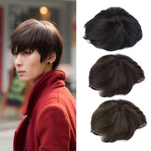 Korean Men's Handsome Short Straight Hair Full Wigs Cosplay Party 3 Colors new brand(China (Mainland))
