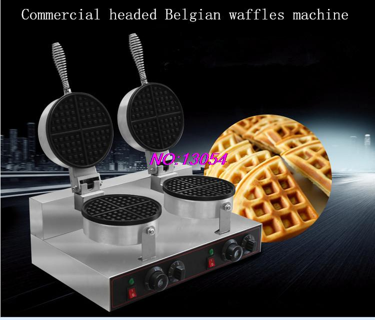2016 the most practical commercial double waffle machine muffin machine waffle oven Belgian waffles waffles maker(China (Mainland))