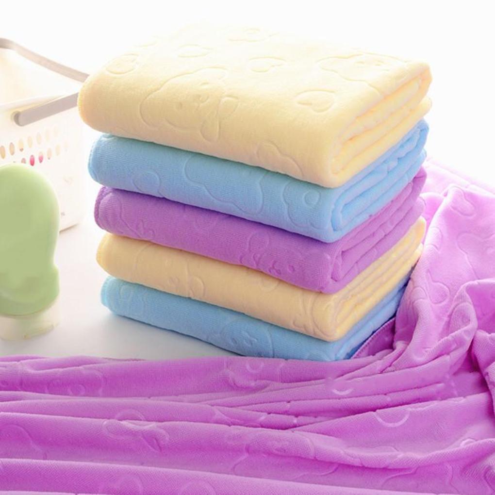 Hot Sale Quick-drying Towel 70x140cm Absorbent Bear Cartoon Microfiber Beach Bath Towel