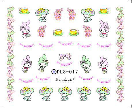 2015 cartoon nail stickers lovely girl Series water transfer designs cute 2 - Elaine's Beauty Online Store store