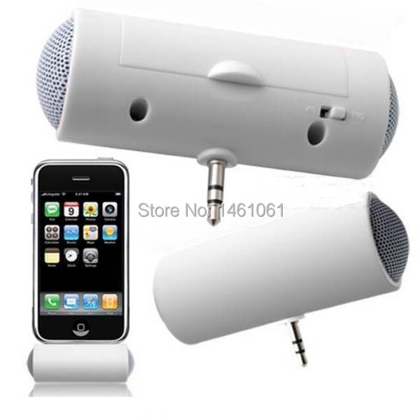 3.5mm Loud Speaker Mini Portable Stereo Speaker For iPad iPod iPhone 4 5 6 MP3 MP4 Player Smart phone Laptop louderspeaker(China (Mainland))