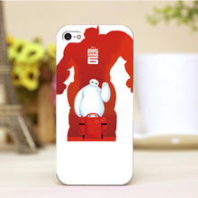 PZ0004-13-13 Cartoon For Baymax Design cellphone transparent cover cases for iphone 4 5 5c 5s 6 6plus Hard Shell