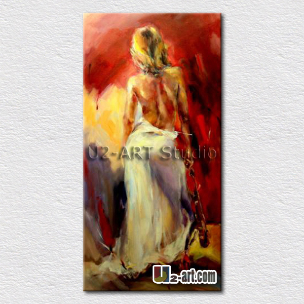 Thick textured nude women canvas art painting beautiful wall pictures oil painting for bedroom wall decoration 50cmx100cm(China (Mainland))