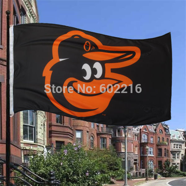 Baltimore Orioles Team Logo Black Flag 3FTX 5FT(China (Mainland))