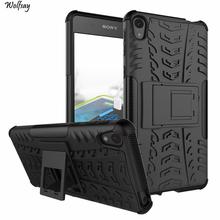 Case Sony Xperia E5 Cover Soft Rubber & Hybrid PC E 5 F3313 F3311 Phone Holder Stand }<* - Luck Sky Store store