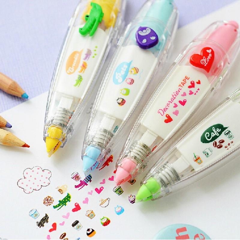 Гаджет  School Supplies Creative Stationery Set Tape Lace Decorative Pen Colorful Lace Pen None Офисные и Школьные принадлежности