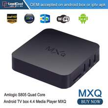 5pcs MXQ Tv Box,Android Tv Box,Kodi Pre Installed Amlogic S805 Quad Core Android 4.4 Better Than Cs918,Q7,M8,MX,Smart Tv Box
