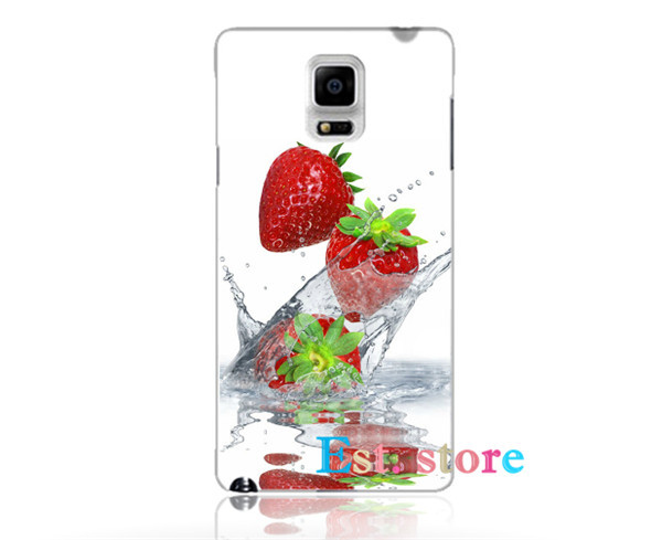 Drop Strawberry Sweet Special emboss UV print hard phone case for samsung galaxy S3 S4 S5 S6 note 2 3 4 A5 A7 S4mini back cover(China (Mainland))