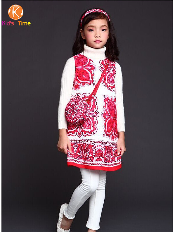 luxury robe reine des neiges 2015 european floral girl dress kids dobby girls dresses pattern. Black Bedroom Furniture Sets. Home Design Ideas